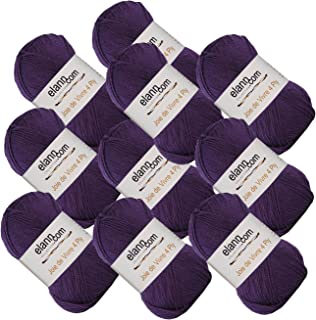 elann Joie de Vivre 4 Ply Yarn | 10 Ball Bag | 04 Plum Purple