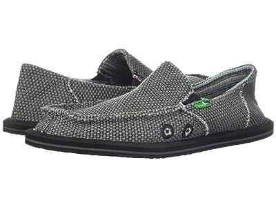 Sanuk Kids Vagabond (Little Kid/Big Kid) (Black) Boys Shoes