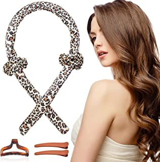 Women Heatless Hair Curlers For Long Hair, Tik Tok Heatless Curling Rod Headband Sleeping Soft Rubber Hair Rollers, Curlin...