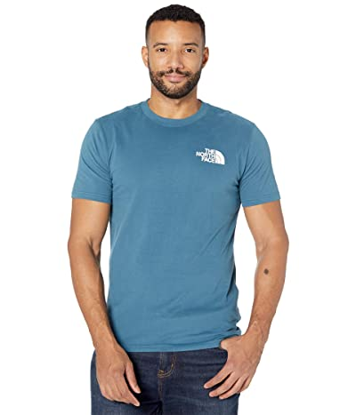 The North Face Box Nse Short Sleeve Tee (Mallard Blue) Men