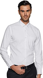 Diverse Men's Striped Regular Fit Formal Shirt