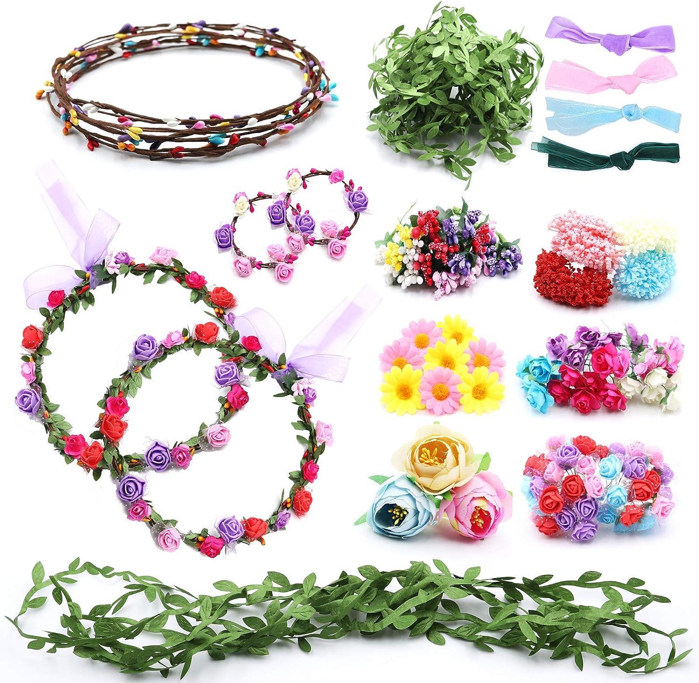 Loycyoec Flower Crowns Craft depot 2021 model Kit for Girls Your Make Own