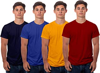 Buy Boodbuck Men s Regular Fit T-Shirt (Pack of 4) (PLAIN4-MAROON-MUSTARD-RB-NB-M-SLF_Multicolored_Medium) at Amazon.in