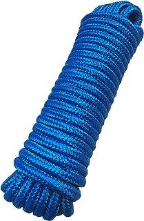 Seile Schleppleine Festmacherleine Polypropylenseil PP 11 mm x 12 m blau Bootseil Zugleine Flechtleine - Bruchlast: 1.100kg, 12m x 11mm SCHWIMMFÄHIG
