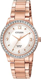 Citizen Women's Quartz Watch with Stainless Steel Strap, Two Tone, 18 (Model: EL3093-83A)