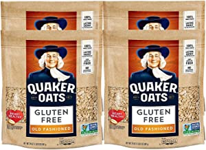 Quaker Gluten Free Old Fashioned Rolled Oats, Non GMO Project Verified, 24oz Resealable Bags (Pack of 4)