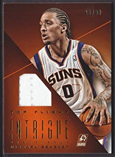 2012-13 Panini Intrigue Basketball Top Flight Jersey #69 Michael Beasley 16/99 Phoenix Suns
