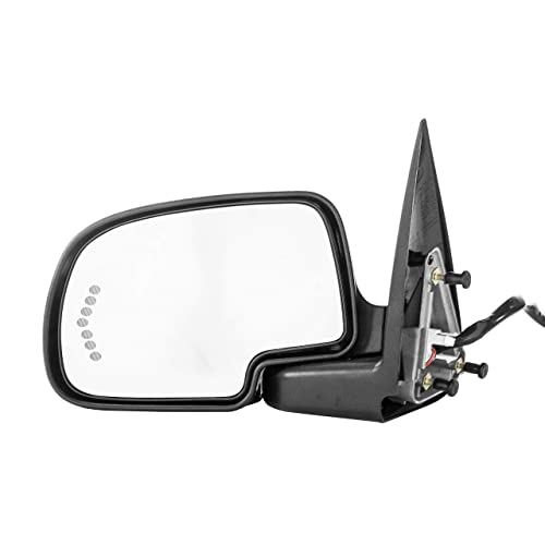 Heated Left Side Only Powered OE Style Replacement Side Mirrors for 2003-06 Chevy Silverado//Tahoe//Suburban//Avalanche//GMC Sierra 1500 Black