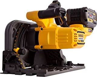 Dewalt DCS520T2-GB XR Flex Volt Cordless Brushless Plunge Saw with 2 DCB546 Batteries, 54 V, Yellow/Black, 2 x 18 Volt 6.0...