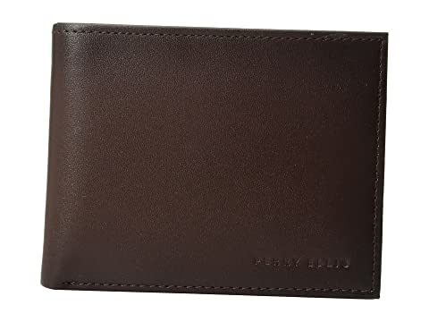 Michigan Ellis Marrón Portfolio Slim Bifold Perry R41w6H