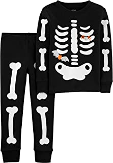 Carter's Baby Boys' 12M-24M 2 Piece Glow-in-The-Dark Snug Fit Cotton Halloween PJS