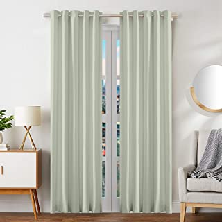 Cortina Single Piece Blackout Door Curtains, Room Darkening 9 FT Blackout Curtains Set with Eyelet Grommets Top Ideal for ...