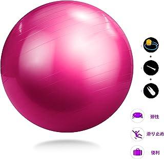 YACONE バランスボール 65cm ヨガ ボール ヨガ バランスボール エクササイズボール トレーニング アンチバースト仕様 バランスボール 腹筋 トレーニング エアーポンプ付き ダイエット器具 運動不足解消