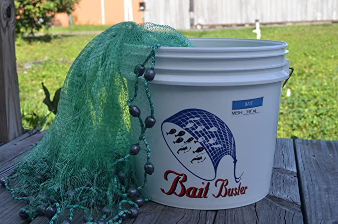 "Fishing Bait Trap 3//8/"" Links 4/',6/',8/' Throwing Cast Net"