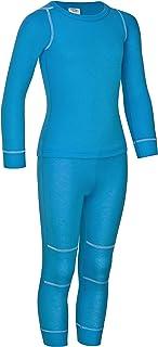 icefeld®–Transpirable térmica de–Ropa para niños–calientes ropa de langärmligem parte superior + larga Unterhose (oe...