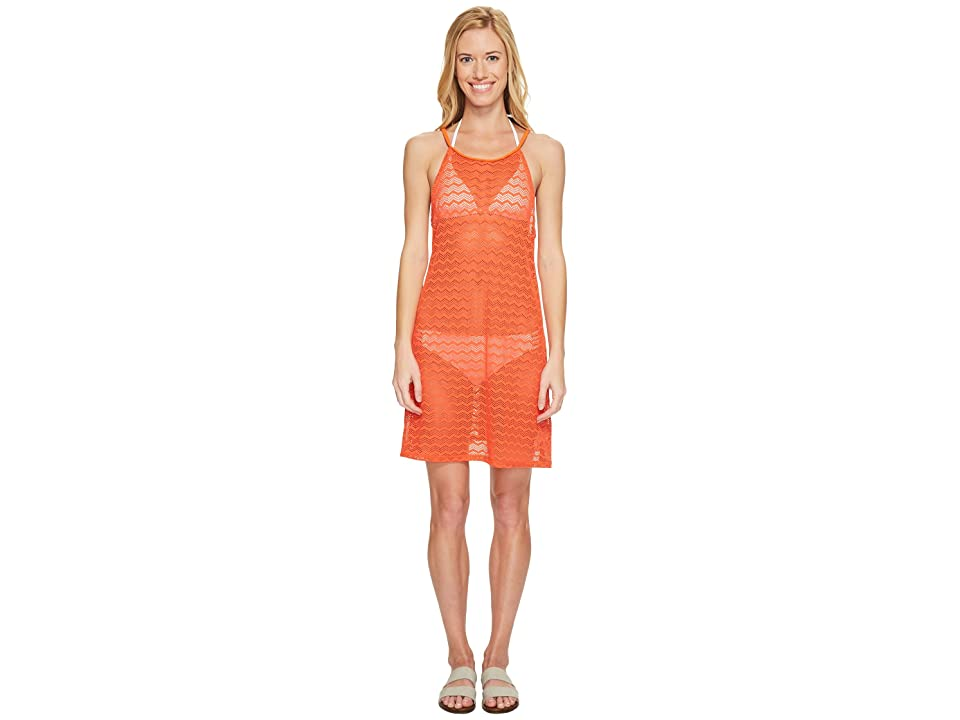 Prana Page Dress Cover-Up (Electric Orange) Women