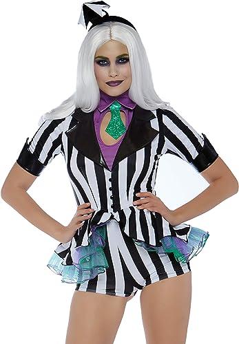 solo para ti Leg Leg Leg Avenue 8673401007 Beetle Babe - Disfraz de Carnaval para mujer (3 Piezas, Talla S), Color negro y blanco  productos creativos