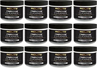 Rolite Chrome Cleaner (1lb) for All Chrome Plated Surfaces. Motorcycles, Automobiles, Boats, RVs, Bumpers and Much More 12 Pack