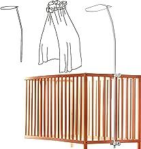 Babymajawelt/® Himmelstange Freistehend Baby Bett Gitterbett Kinderbett Himmelhalter