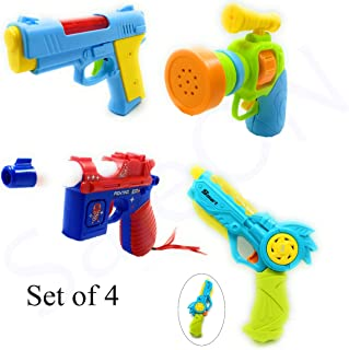 SaleON Light and Music Gun Toy Plastic Realistic Sound and Light Effect (Set of 4)-1350