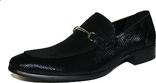 F41095 Oxford Shoes for Men Black Patent Snake Print Tuxedo Slip-on Loafer Dress Wedding