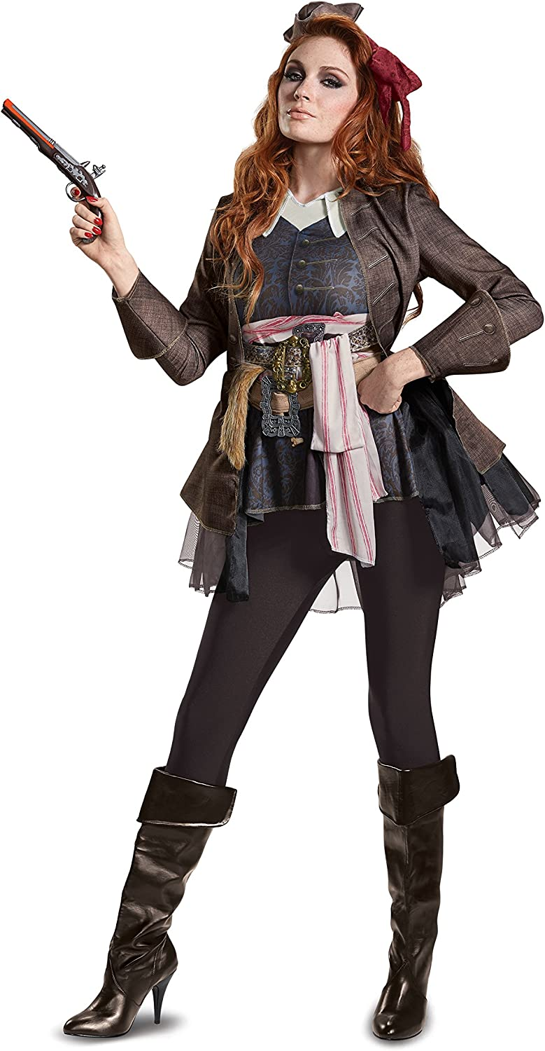 Disguise Wouomo Captain Jack Sparrow Deluxe Fancy Dress Costume X-gree