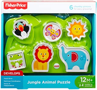 Fisher-Price gfr53animales de la jungla (), diseño de pieza de puzle, multicolor