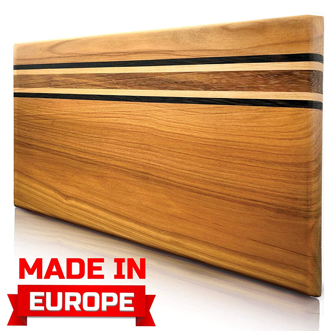 Cutting Board Wood Cutting Boards for Kitchen Chopping Board Wood Meat Cutting Board Log Cutting Board Handmade from Europe Original Presentation Serving Board New Crack free Design