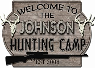Redeye Laserworks Hunting Camp 3D Deer Skull Wall Sign - Personalized