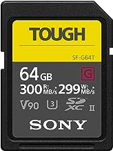Sony Tough High Performance 64GB SDXC UHS-II Class 10 U3...
