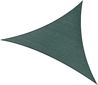 PHI VILLA Sun Shade Sail Triangle 16.5'x16.5'x16.5' Dark Green Patio Canopy Cover - UV Bloack - for Patio, Garden, Yard, Pergola