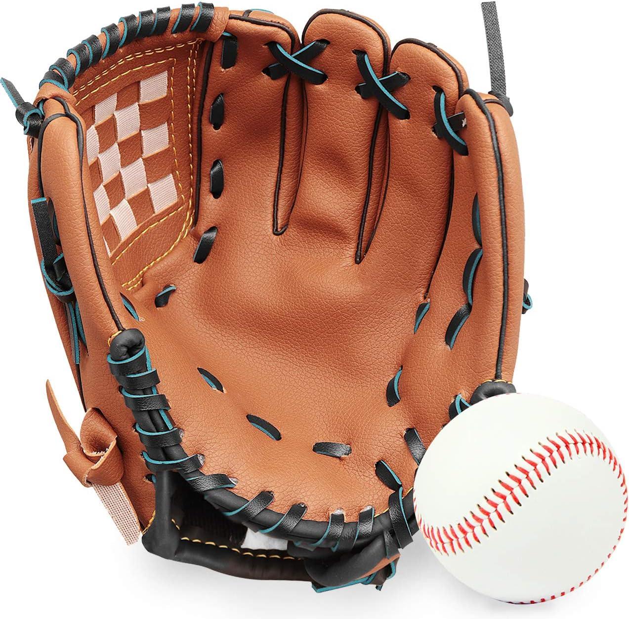 GROOFOO Baseball Glove San Francisco Mall and Ball for Softball Adults Kids Youth T Brand new