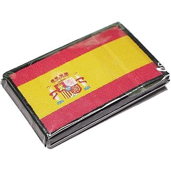 Parche Bordado Bandera España con Velcro con Colores Oficiales - Escudo bordado - Parches Moteros Bordados - Parches Militares - 75 x 50 mm: Amazon.es: Hogar