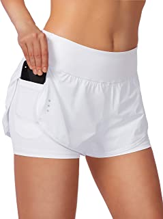 Women's 2 in 1 Running Shorts Workout Athletic Gym Yoga...