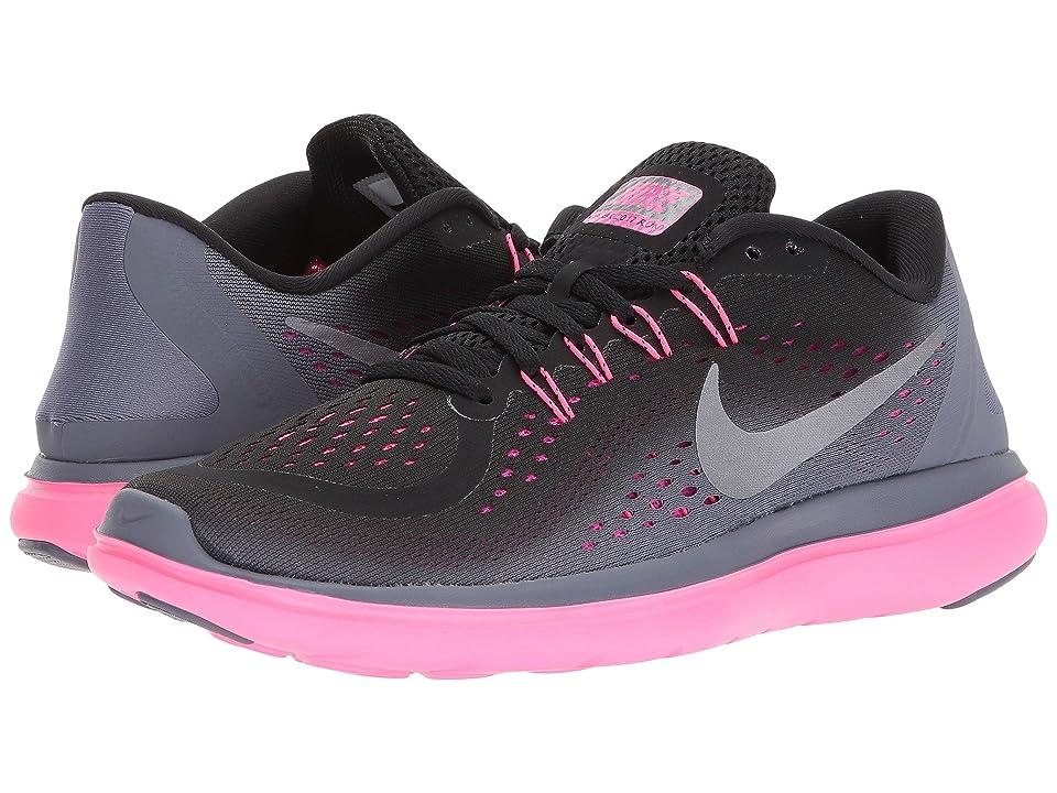 Nike Flex RN 2017 (Black/Metallic Cool Grey/Light Carbon) Women