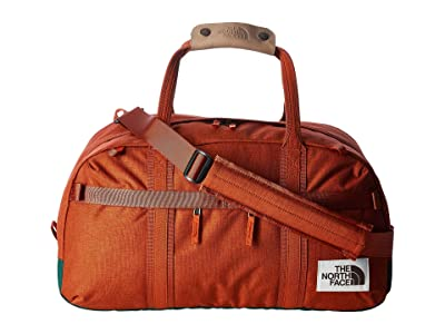 The North Face Berkeley Duffel Small (Picante Red Dark Heather/Night Green Light Heather) Duffel Bags