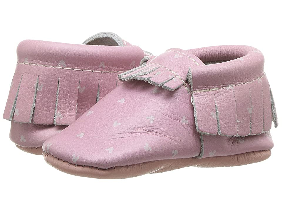 Freshly Picked Soft Sole Disney Moccasins (Infant/Toddler) (Minnie Ears) Kids Shoes
