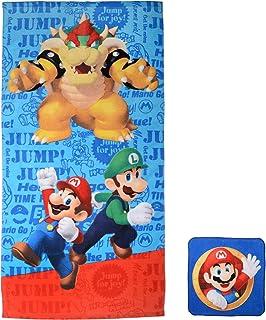 Franco - Juego de Toallas y toallitas, Super Mario, 25&#