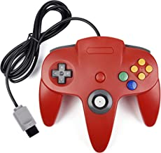 N64 Controller, kiwitatá Retro Classic Wired Game Controller Gamepad Joystick for N64 Video Console Game System Red