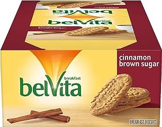 belVita Cinnamon Brown Sugar Breakfast Biscuits, 8 Packs (4 Biscuits Per Pack)