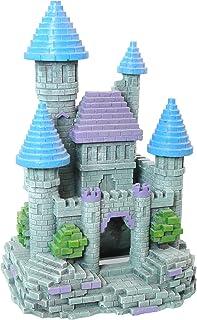 Rosewood - Adorno para Acuario, diseño de Castillo 3D, tamaño Grande