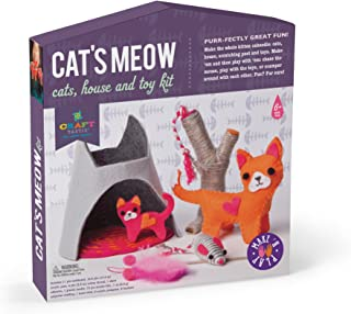 Craft-tastic – Cat's Meow – Make and Play Kit Includes Cat and Kitten-Themed Craft Projects