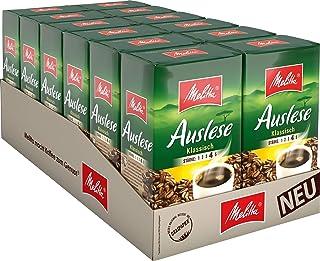 Melitta Gemahlener Röstkaffee, Filterkaffee, kräftig mit rundem Aroma, Stärke 4, Auslese Klassisch, 12er Pack 12 x 500 g