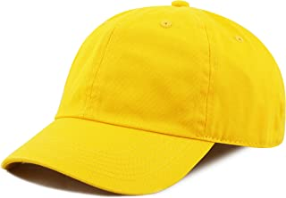 THE HAT DEPOT Kids Washed Low Profile Cotton and Denim Plain Baseball Cap  Hat 2f90c10bbec1