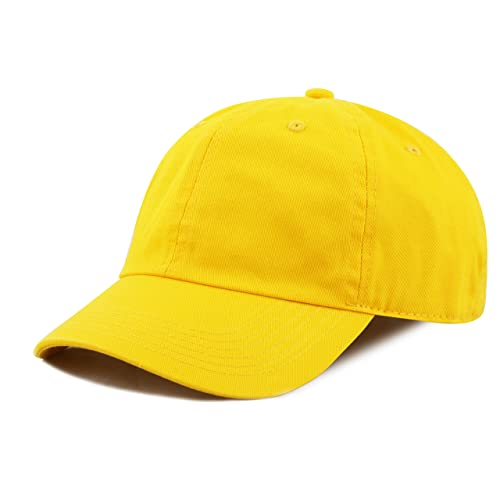 THE HAT DEPOT Kids Washed Low Profile Cotton and Denim Plain Baseball Cap  Hat 97ef9535ed6