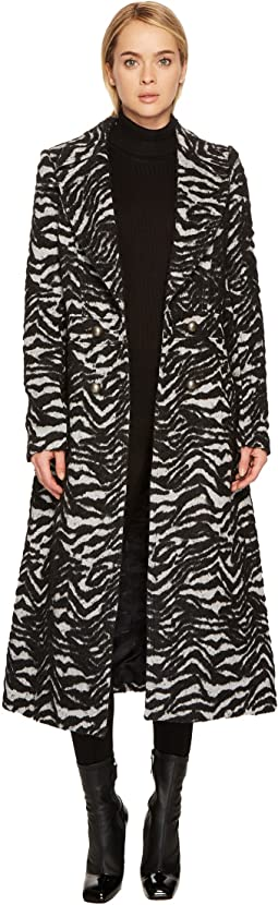 Just Cavalli - Zebra Double Breasted Peacoat