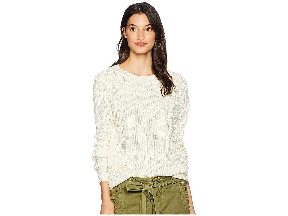 Jack by BB Dakota Know Thy Self Crew Neck Back Cut Out Sweater (Ivory) Women