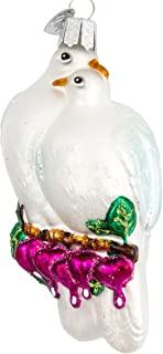 Old World Christmas Watcher Collection Glass Blown Ornaments for Christmas Tree Love Birds