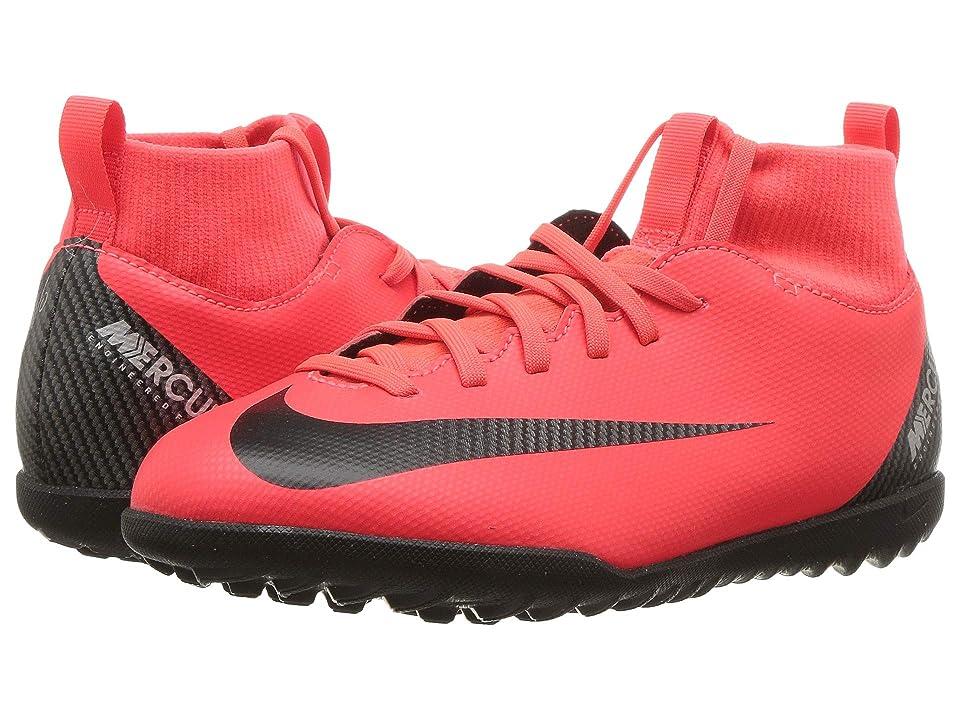 Nike Kids SuperflyX 6 Club CR7 TF Soccer (Little Kid/Big Kid) (Bright Crimson/Black/Chrome) Kids Shoes