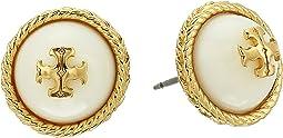 Tory Burch - Rope Pearl Stud Earrings